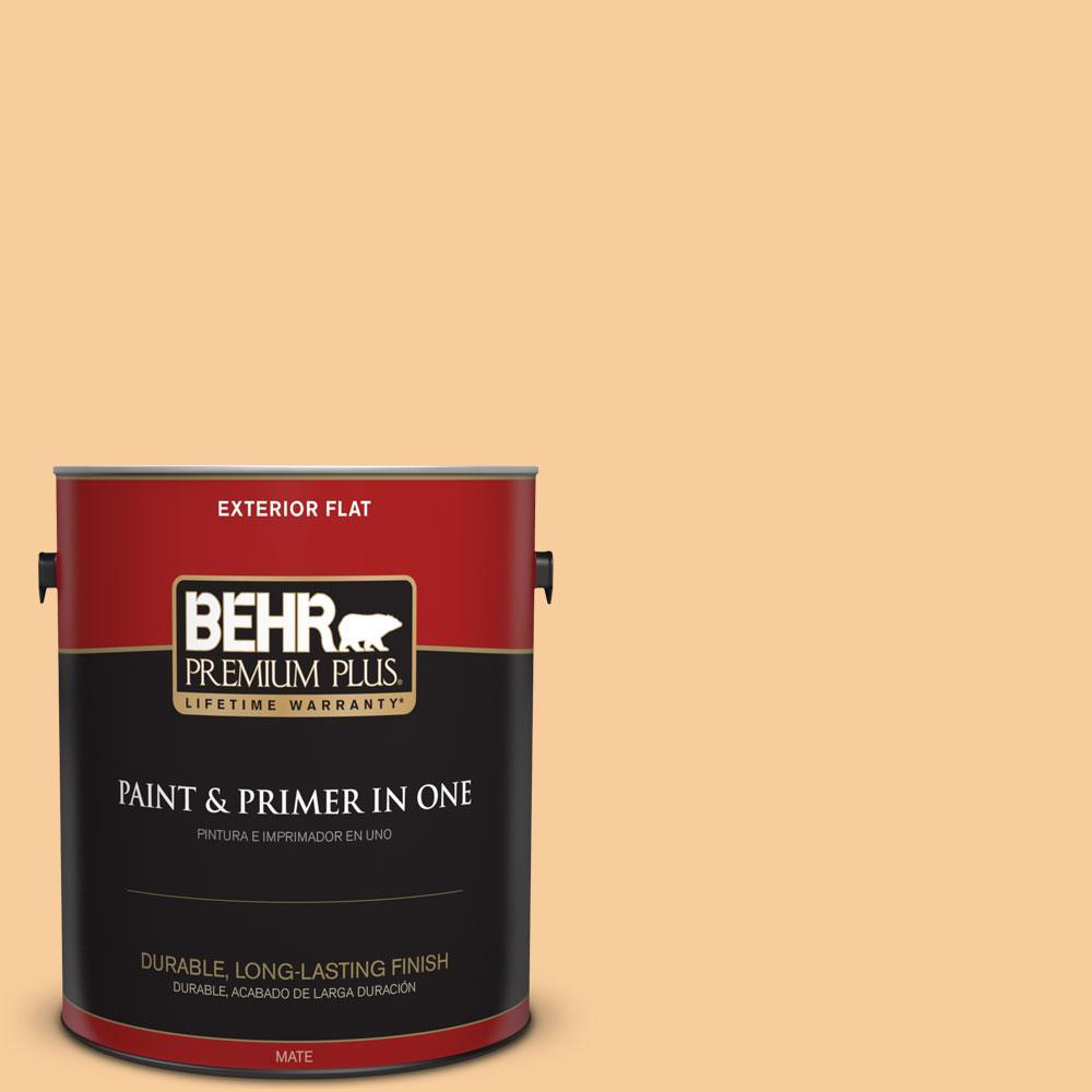 BEHR Premium Plus 1-gal. #300C-3 Bagel Flat Exterior Paint