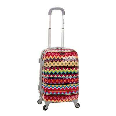 Vision 20 in. Tribal Hardside Carry-On Suitcase