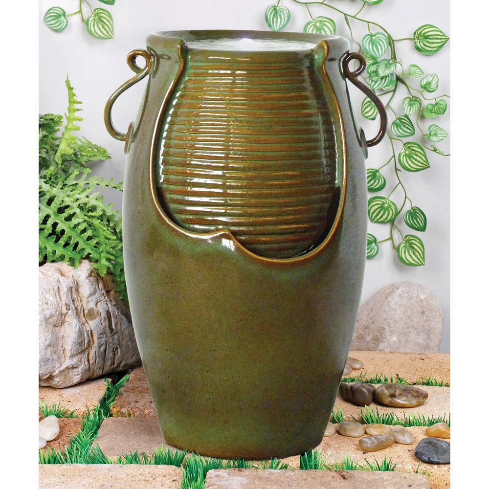 Ceramic Rippling Jar Ceramic Garden Fountain