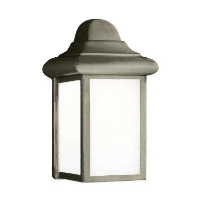 Mullberry Hill 1-Light Pewter Outdoor Wall Mount Lantern