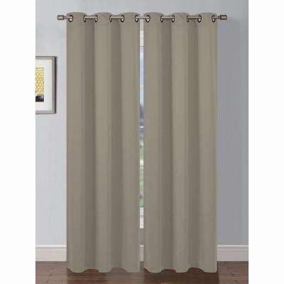 Semi-Opaque Ana Woven Room Darkening Grommet Curtain Panel