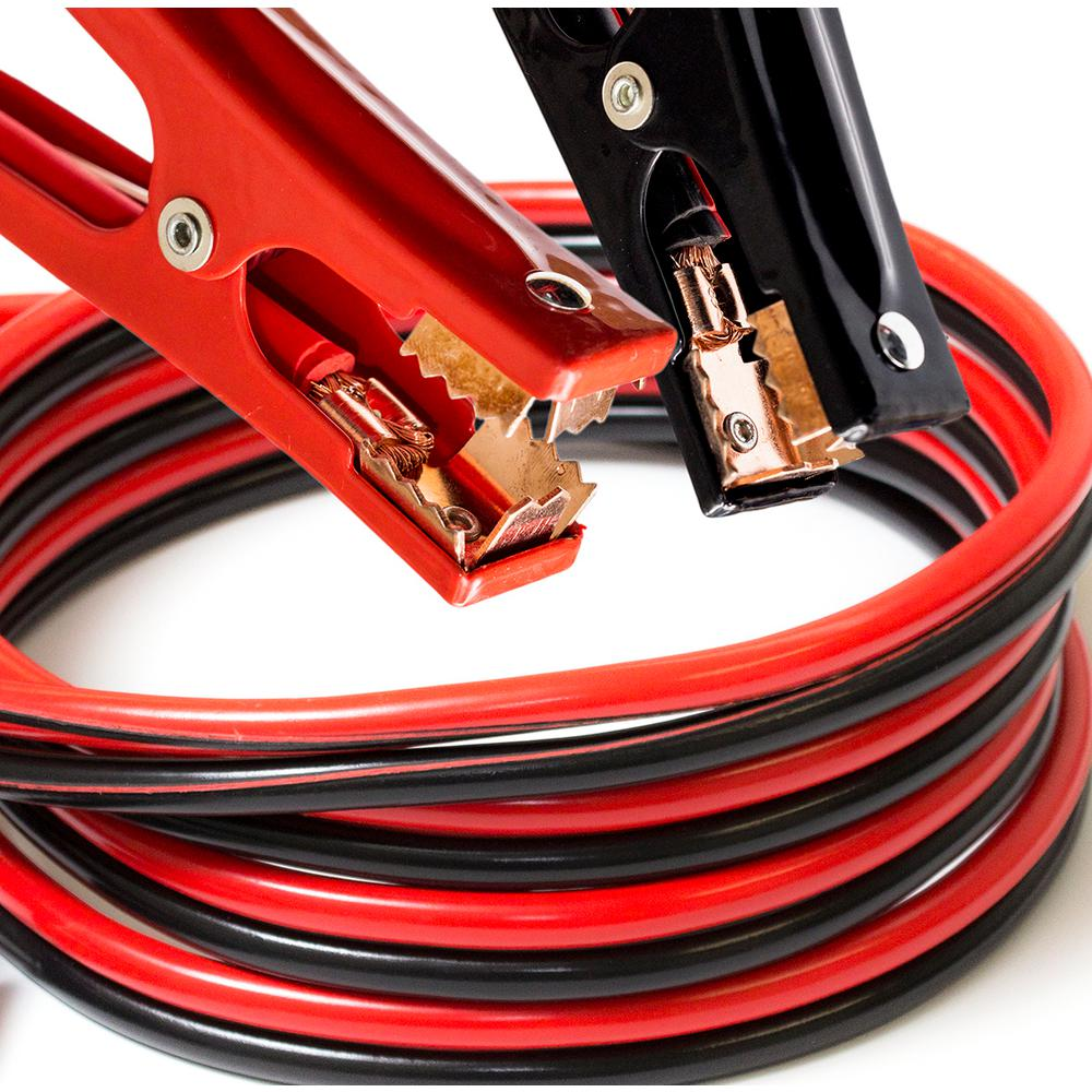 Heavy Duty 12 ft. 6-Gauge 350 Amp Booster Cables