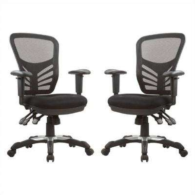 Governor Executive Mesh High-Back Black Adjustable Office Chair (Set of 2)
