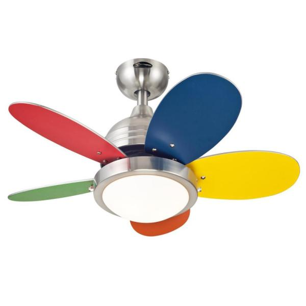 Roundabout 30 in. Integrated LED Brushed Nickel Ceiling Fan with Light Kit