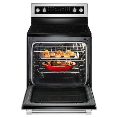 6.4 cu. ft. Electric Range with True Convection in Fingerprint Resistant Stainless Steel