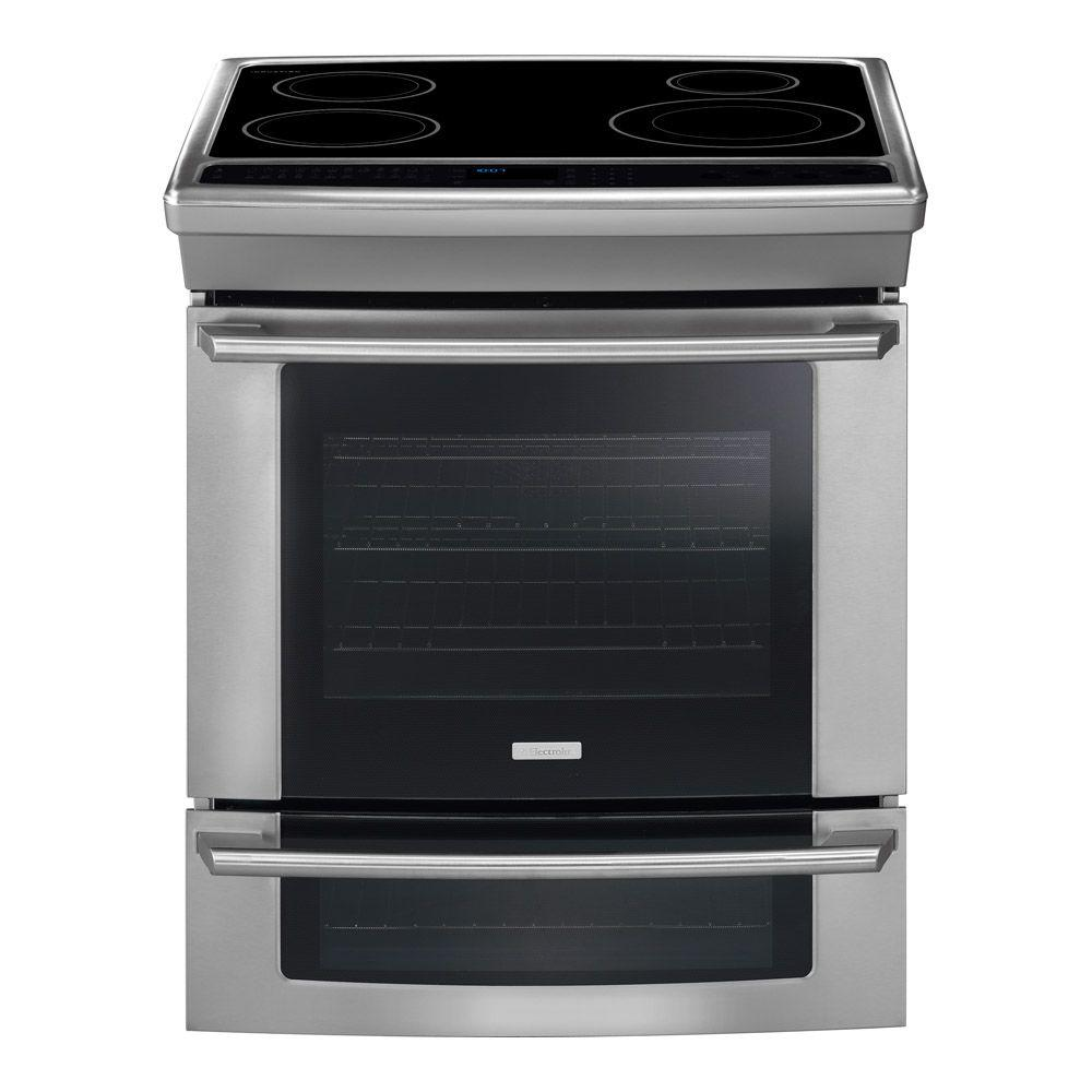 Electrolux Wave-Touch 4.2 cu. ft. Slide-In Double Oven Induction Range with Convection Oven in Stainless Steel-DISCONTINUED