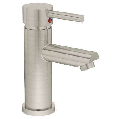 Dia Single Hole Single-Handle Bathroom Faucet in Satin Nickel