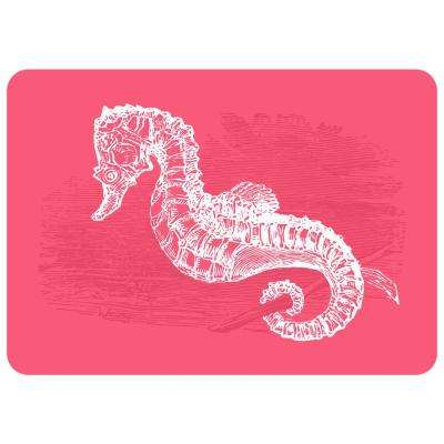 Premium Comfort Nautical Seahorse 22 in. x 31 in. Door Mat