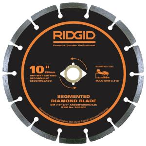 Ridgid 10 inch Segmented Diamond Blade by RIDGID