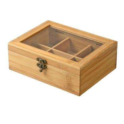 DaPur Bamboo Tea Box with Clear Lid