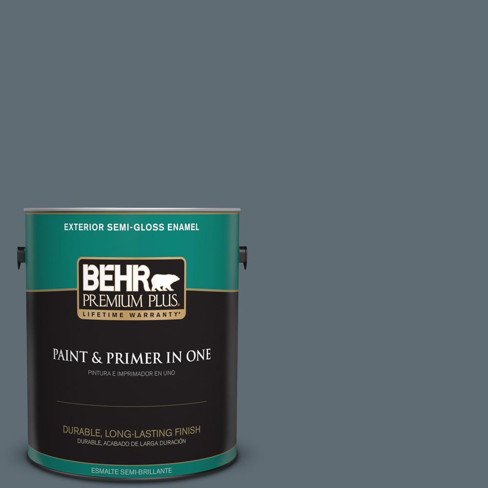 1 gal. #PPU26-22 Summer Storm Semi-Gloss Enamel Exterior Paint