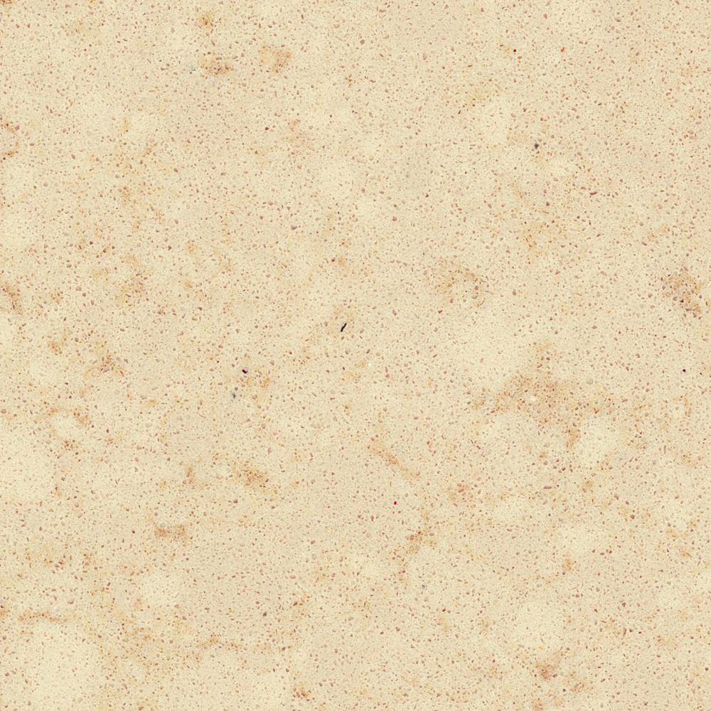 Solieque 4 in. x 4 in. Natural Quartz Vanity Finish Sample in Bisque Baroque-DISCONTINUED