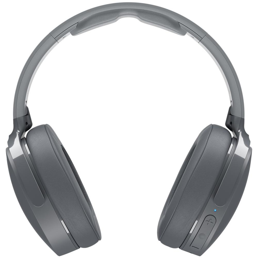skullcandy hesh 3 bluetooth over the ear headphones with microphone gray s6htw k625 the home. Black Bedroom Furniture Sets. Home Design Ideas