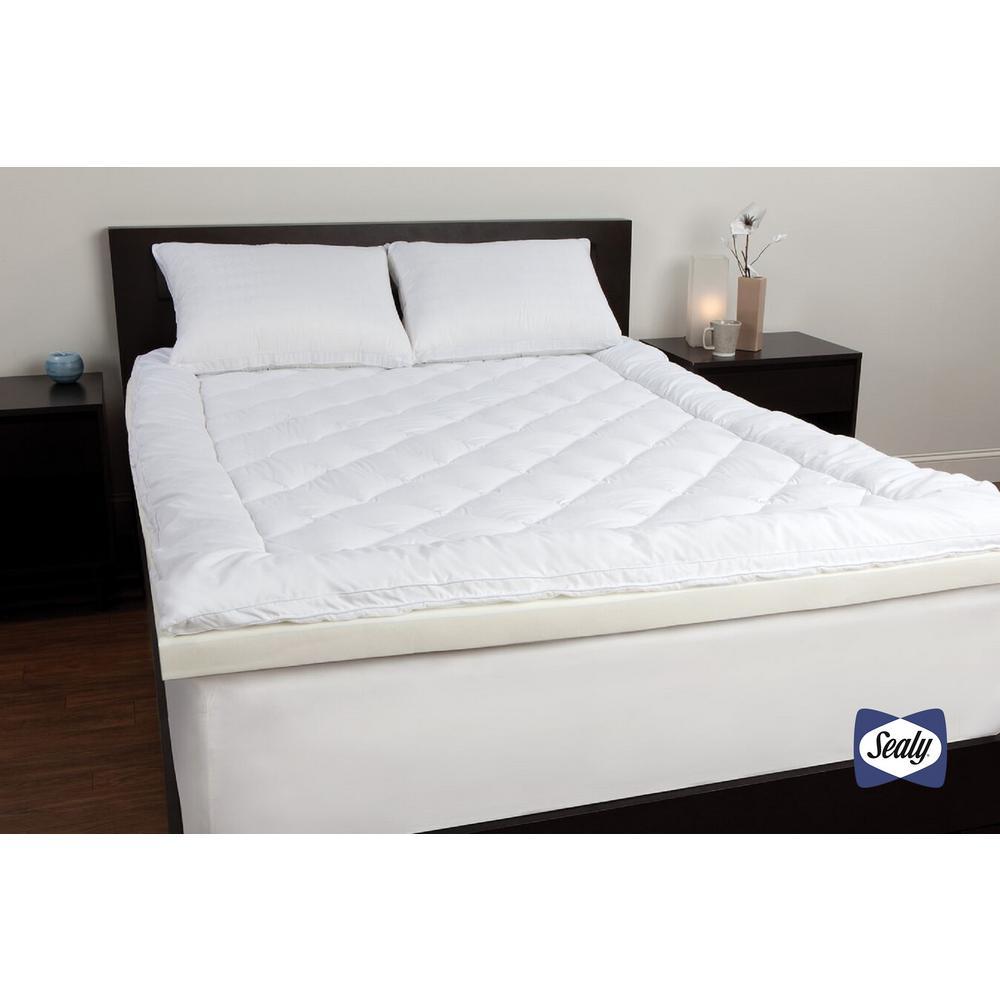 Sealy 3 In Twin Xl Memory Foam Mattress Pad F02 00035 Tx0 The