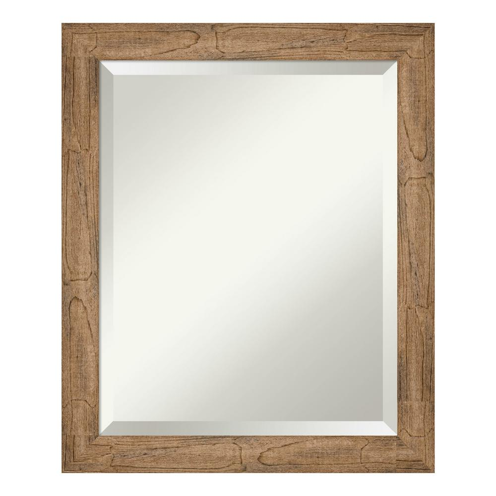 Amanti Art Owl Brown Narrow Bathroom Vanity Mirror