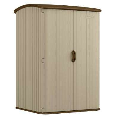 Extra-Large Vertical 4 ft. x 4 ft. 8 in. Resin Storage Shed