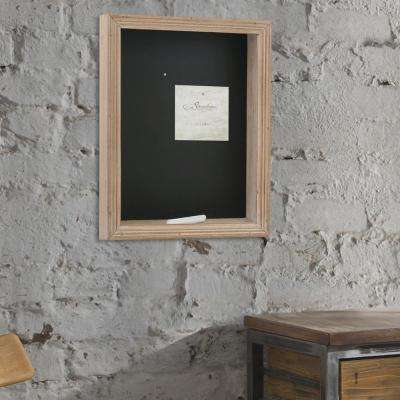 11 in. x 14 in. Black and Natural Wooden Shadowbox with Chalkboard Back