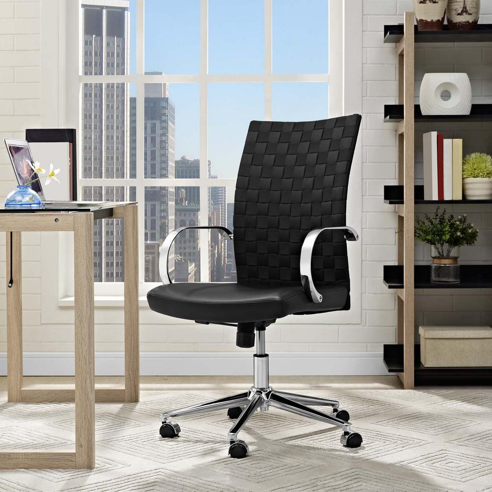Verge Webbed Back Office Chair in Black
