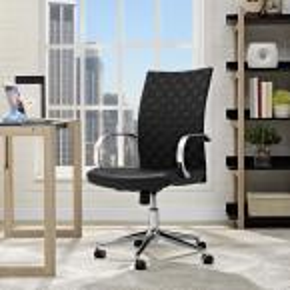 Verge Webbed Back Office Chair in Black