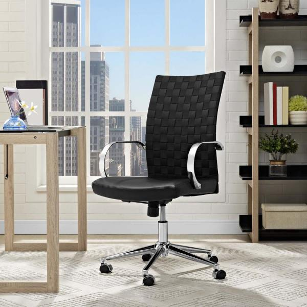 MODWAY Verge Webbed Back Office Chair in Black EEI-2858-BLK
