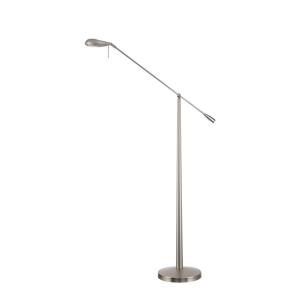 Filament Design Cassiopeia 54 in. Nickel Halogen Floor Lamp