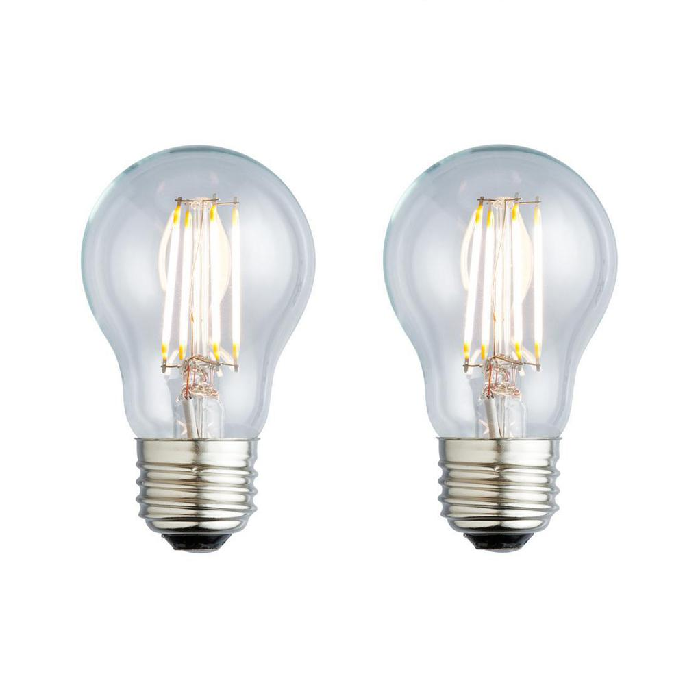 40W Equivalent Soft White A19 Clear Lens Nostalgic LED Light Bulb
