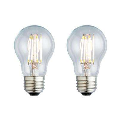 40W Equivalent Soft White A19 Clear Lens Nostalgic LED Light Bulb (2-Pack)