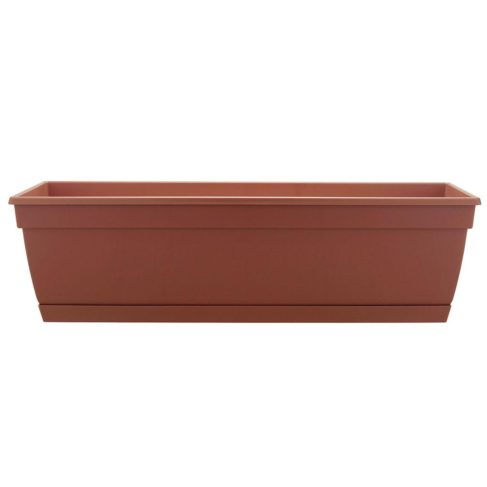 Newbury 24 in. Light Terracotta Resin Window Box (12-Case)