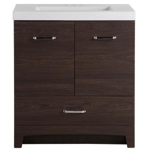 Stancliff 30.50 in. W x 18.75 in. D Bath Vanity in Elm Ember with Cultured Marble Vanity Top in White with White Basin