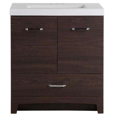 Stancliff 31 in. W x 19 in. D Bathroom Vanity in Elm Ember with Cultured Marble Vanity Top in White with White Sink
