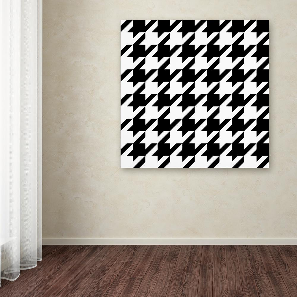 How To Paint Houndstooth On A Wall