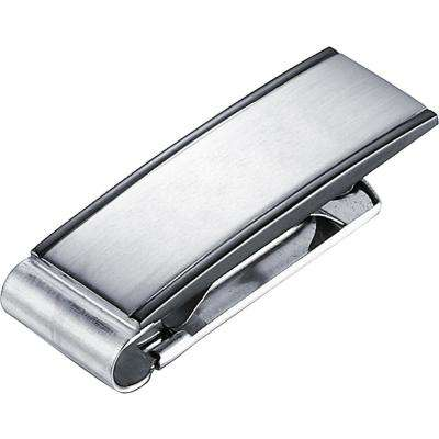 Javier Brushed Gunmetal Stainless Steel Money Clip