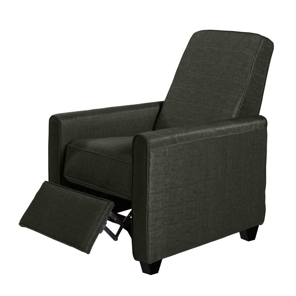 Tremendous Onespace Anthony Blue Fabric Accent Recliner 60 6000A07 Machost Co Dining Chair Design Ideas Machostcouk