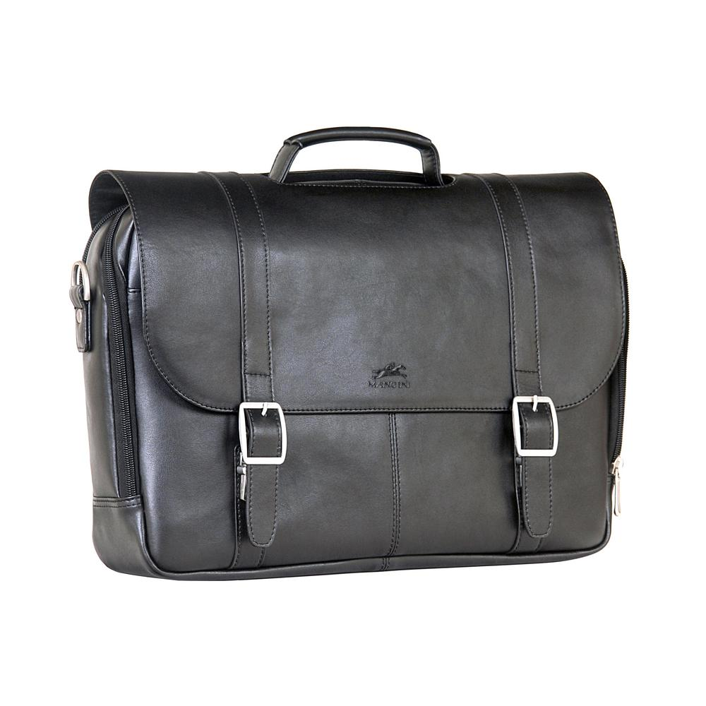 Double Compartment Black Business Briefcase for 15.6 in. ...