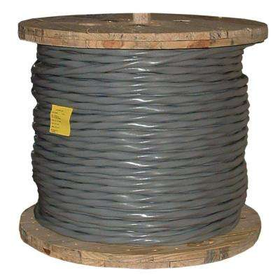 250 ft. 2/0-2/0-2/0-1 Gray Stranded Al SER Cable