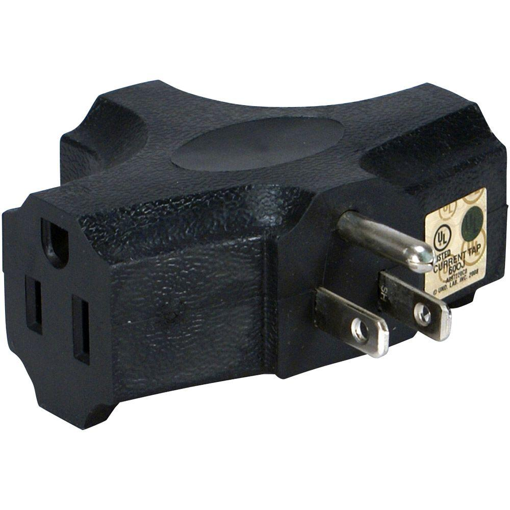 QVS Space-Saver 3-Outlet 3-Prong AC Plug-PA-3P - The Home Depot