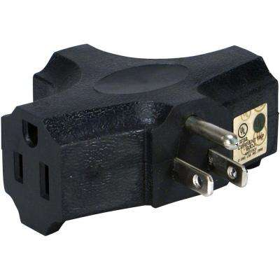 Space-Saver 3-Outlet 3-Prong AC Plug