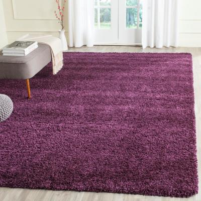 California Shag Purple 10 ft. x 13 ft. Area Rug