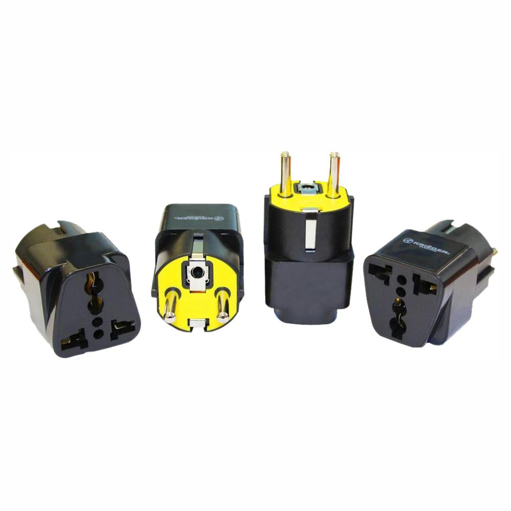 Krieger Universal to German Plug Adapter (4-Pack)