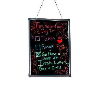 28 in. x 20 in. LED Illuminated Hanging Message Writing Board