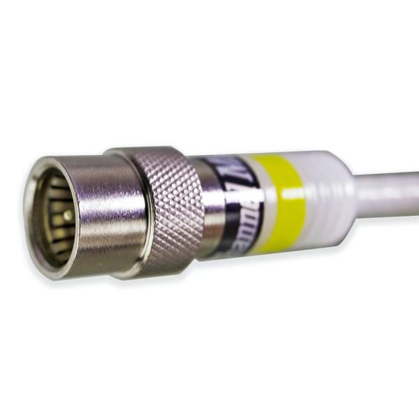 6 Foot RG6 Digital Coaxial Cable with Premium Compression Connectors White