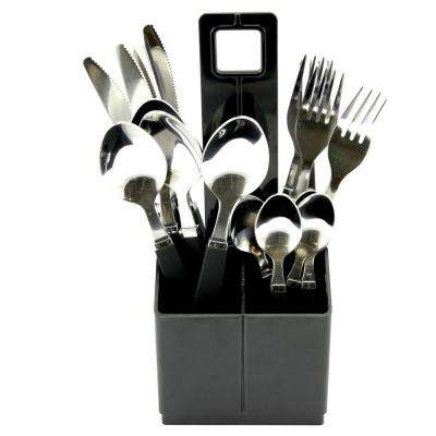 Altamara 16-Piece Black Stainless Steel Flatware Set