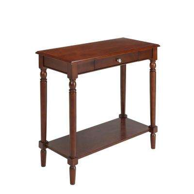 French Country Espresso Hall Table