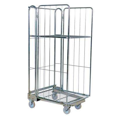 27.5 in. x 68.3 in. Galvanized Nestable Roller Container