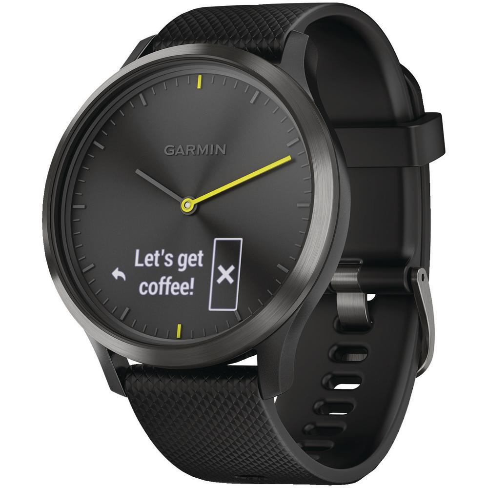Vivomove HR Sport Black Hybrid Smart Watch