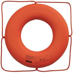 Jim-Buoy 24 inch Closed Cell Foam Life Ring with Rope Molded Into Core in Orange by Jim-Buoy