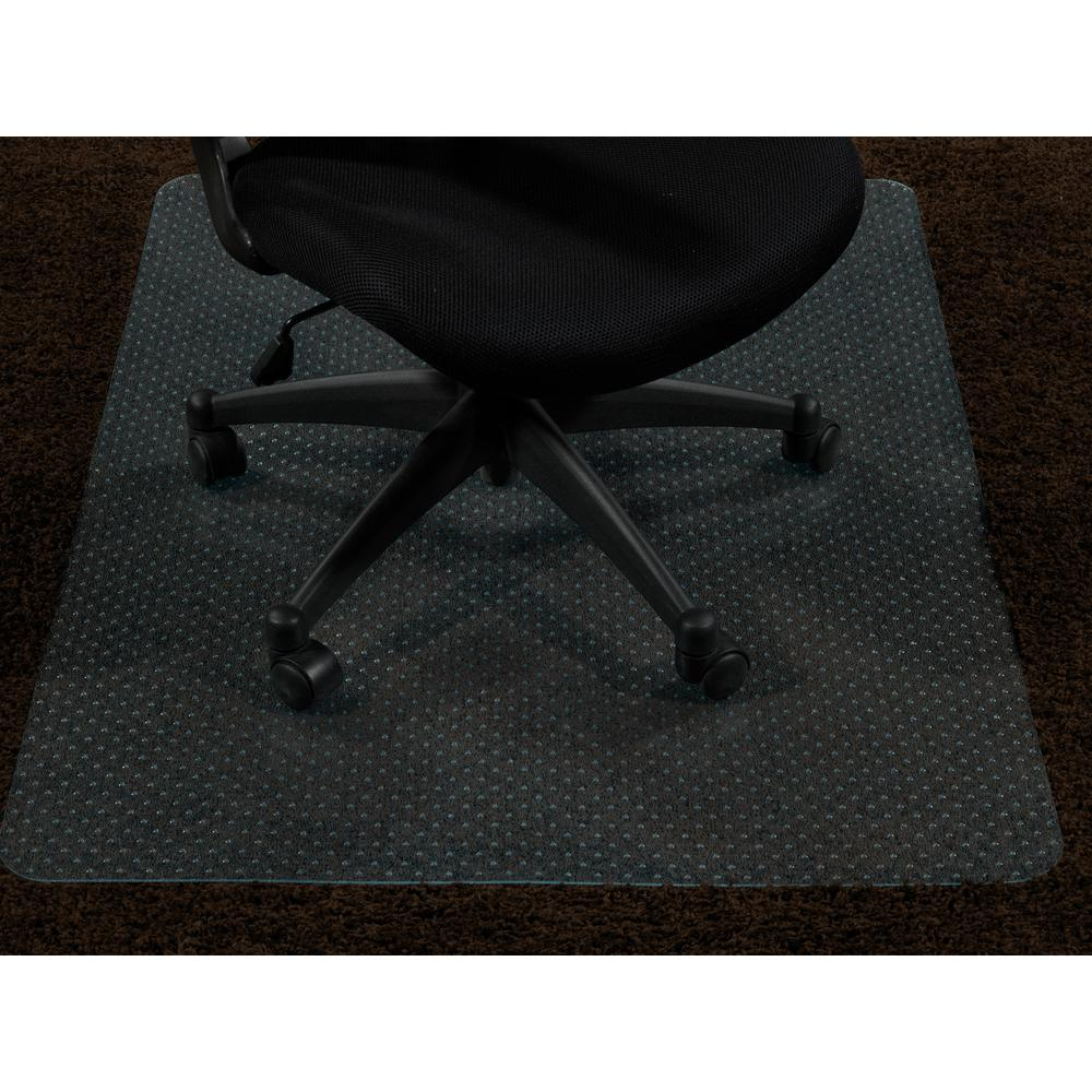 Ottomanson Super Grip Clear 30 In X 48 In Vinyl Carpet Chair Mat