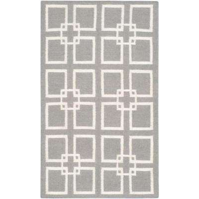 Cement Gray 3 ft. x 5 ft. Area Rug