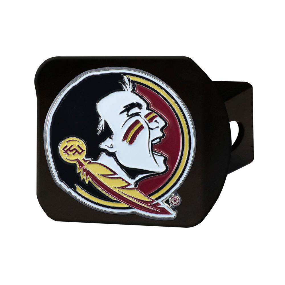 NCAA Florida State University Color Emblem on Black Hitch Cover