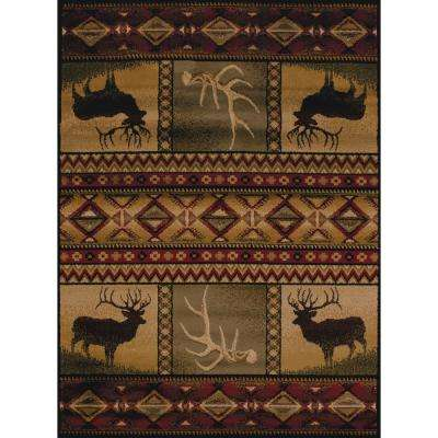 Affinity Hunter's Dream Lodge 1 ft. 11 in. x 7 ft. 4 in. Area Rug